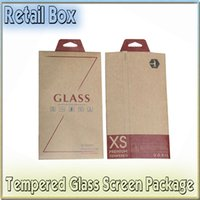 Wholesale Brand New Universal Kraft Paper Retail Package Packaging Box for Cell Phone Tempered Glass Screen Protector Film