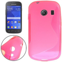 "Wholesale Galaxy Ace S Line - Black Soft S Line TPU Back Skin Pouch Covers Case for Samsung Galaxy Ace Style (4.0"") 8 Colors"