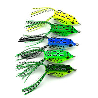 Wholesale Hard Baits For Trout - Floating Soft Ray Frog Rubber Lures 8.2g 5.5cm Scum Frogs Fishing bait For Walleye bass Barra trout Fishing Artificial Frog Bait
