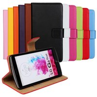Wholesale Lg Spirit - GENUINE Wallet Credit Card Stand Leather Case For LG X Cam G2 MINI G3 MINI G4 BEAT G4 Stylus Joy Leon Magna Spirit stylus 2 V10 50PCS LOT