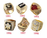 1991/1992/1993/1996/1997/1998 Whole Championship Basketball Bulls Replica Championship Ring for Fans
