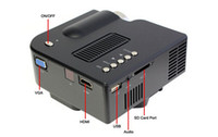 Wholesale Portable Mini Projector Cheapest - pj008 UC28 UC20 LED Mini Projectors LCD Portable Projector VGA Cheapest Home Theater Proyector Beamer Remote control