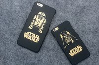 Compra Caso Darth Vader Iphone-Casi 50pcs Star Wars Telefono cassa in oro carattere glassa dura del PC Back Cover per iPhone 6 6p più Darth Vader