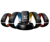 android uhren verkauf großhandel-Verkauf L12S OLED-Touch Screen Bluetooth Armband-Armbanduhr-intelligente Uhr für IOS iPhone Samsung und Android-Telefon Anruf-Antwort / SMS, die erinnern