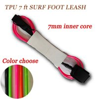 Wholesale 7 ft Length ft Foot Leash Surf Leash Surf Sup Board Coiled leash mm core straight foot rope