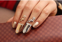 Wholesale Nail Ring Order - Min.order is $15 (mix order)-Special Personalized Fashion Flash Flower Nails Ring-J216