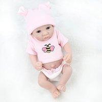 wiedergeborenes baby schläft groihandel-Handgemachte Voll Vinyl 10 Reborn-Puppen für Mädchen Mini Boneca Reborn Realista weiche Baby-Schlaf Puppen Neugeborenen Spielzeug Zubehörs