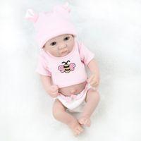 Wholesale toys for newborns resale online - Handmade Full Vinyl Reborn Dolls for Girls Mini Boneca Reborn Realista Soft Baby Sleeping Dolls Newborn Toys Accessories