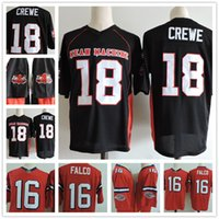 Wholesale Film Machines - The Longest Yard #18 Paul Crewe Black Jersey Mens The Movie Mean Machine Sandler Stitched Football Adult Film Jerseys S-3XL Free Shipping