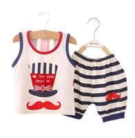 Wholesale Kids Under Pants - 2 piece Baby Boy Girl Kids Toddler T-shirt Top+Pants Shorts Outfit Clothes Set 6-24month