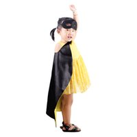 Wholesale Children Design Dresses - New Designs Kids Cape and Mask Superhero 70*70cm Cape Costume for Children Party Dress Cosplay Clothing Free Shipping