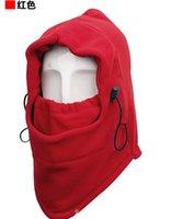 Wholesale Wind Door Stoppers - Wholesale-New Arrival Face Mask Thermal Fleece Balaclava Hood Swat Ski Bike Wind Winter Stopper Skullies Beanies Out Door Sports