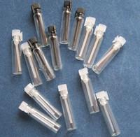 viales de perfume de muestra vacíos 1ml al por mayor-1ML 2ML 3ML perfume de vidrio Botellas pequeñas Vial de vidrio, Mini frasco de muestra de perfume, botella de prueba de vidrio de 1 ml Vaporizador rellenable Difusores de aceites