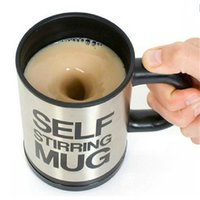 Wholesale Automatic Stirring Coffee Cup - Mixer Automatic Electric Self Stirring Mug Black Stainless Steel Coffee Mixing Cup Coffee Whey Protein Mixing Drinking