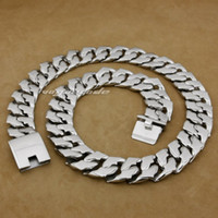 """Wholesale Stainless Biker Necklaces - 18"""" ~ 36"""" Huge Heavy 316L Stainless Steel Mens Biker Punk Necklace 5F002N"""