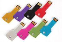 Wholesale Promotional Logo Gifts - HOT! Custom LOGO Metal Key USB Flash Drive,USB Flash Memory,Promotional Gift(NEW mini U Disk) Drive,32GB 64GB free shipping 100pcs lot