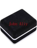 kelepçe kutuları toptan satış-Popüler 500 ADET Yeni Gelmesi Promosyon Siyah Kadife Kol Düğmesi Kutusu Kol Düğmeleri Ücretsiz Nakliye için En Iyi hediye kutusu