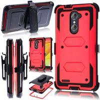 Wholesale Armor Moto - Hybrid Armor Case For LG Stylo 3 plus For Motorola moto e4 Metropcs J7 prime Metropcs Holster Combo Shockproof with Belt clip