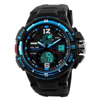 SKMEI Marca Men's Sports Analog Digital Watch Multi Função Militar S-shock Relógios LED impermeável WHSKWT075