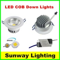Wholesale Led Downlights Watts - Actual Watt Recessed led ceiling down lights Cree cob downlight dimmable downlights 5w 7w 9w 12w 15w 21w adjustable angle LED spot light