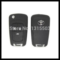 Wholesale Toyota Folding Car Key Blanks - Free shipping for Blank modified flip folding remote Key Shell for Toyota Reiz with 3button TOY43 blade (A060) S161 car