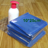 "Wholesale Heat Wrap Bags - 10*25cm (3.9*9.8"") Plastic Heat Shrinkable Bag Open Top Clear PVC Heat Shrink Flat Bags Film Wrap Cosmetic Commodity Wrap Packaging Pouch"