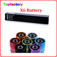 Wholesale Ego Color F - X6 Battery for EleCtronic Cigarette Various Color Battery 1300mAh recharger Battery Suit f cor Ego Series Free DHL