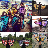 Wholesale Robes Plage - Wholesale- 2017 Pareo Beach Cover Up Butterfly Wing Cape Bikini Cover Up Swimwear Women Robe De Plage Beach Bathing Suit Cover Up