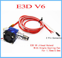 Wholesale Wade Extruder - 3D Printer J-head Hotend E3D V6 with Single Cooling Fan for 1.75mm 3.0mm Direct Filament Wade Extruder 0.2mm 0.3mm 0.4mm Nozzle