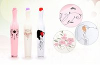 Wholesale Umbrella Printed Fabric - Creative Vase Bottle Umbrella Folding UV Sun Rain Portable Parasol Black Berry Printing Pink Plastic Flower Bud Shaped Hard Case