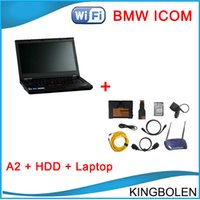 Wholesale Icom Bmw A2 Wifi - ICOM A2 full set wireless wifi model with 2015.03 software installed on T420 Laptop 19 Languages ICOM A2+B+C For BMW Diagnostic tool