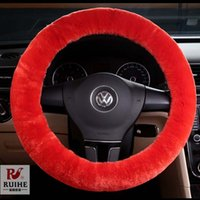 Wholesale Steering Wheel Cover Orange - Warm Black Personalized Winter Steering Wheel Cover Winter Plush Steering Wheel Cover