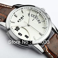 Wholesale Eyki Pair - 30 pcs =15 pairs lots Lover's EYKI Pair Fashion Calendar Watch Couple Leather Gift DHL Free Shipping