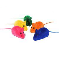 ingrosso gatto di gomma-Cat Toy Realistic Fur Mouse Mouse Cat Toys Squeak Squeaker Rubber Toys Confezione da 4, colore May Varia