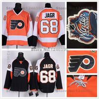 Wholesale Discounted Hockey Jerseys - Factory Outlet, Discounted Philadelphia Flyers Jersey #68 Jaromir Jagr Jersey Orange Black Ice Jaromir Jagr Hockey Jerseys Cheap Factory Pri