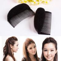 Wholesale Bun Coffee - Women Fashion Hair Fringe Styling Clip Stick Bun Maker Braid Tool Hair Accessories Black Coffee Beige color #71809