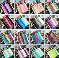 Wholesale Baby Yoga - 2016 Children's Hair Accessories Baby girls Hairbands Yoga Hair Ties Ponytail Band stripe Knotted Ties hair tie