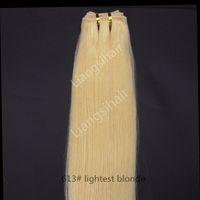 bakire malezya kılları 613 toptan satış-Perulu Saç Demetleri Brezilyalı Malezya Hint Virgin İnsan Saç Dokuma Düz Saç Atkı Uzantıları 100g 1 adet 16