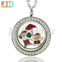 Wholesale 25mm crystal locket resale online - 25mm mm Twist Waterproof Locket Stainless Steel setting stones Locket Origami Owl floating charms Locket