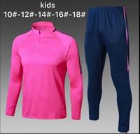 Wholesale Kids Red Coats - Top Quality Kids Coat Training Set soccer Jersey 2017 2018 AJAX GRIEZMANN POGBA KOKE RONALDO Children's Youth Soccer Shirt