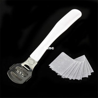 Wholesale Hard Skin Shaver Blades - Foot Care pedicure machine Callous Hard Skin Cutter Cuticle Remover Shaver 10 Corn Blades Tool