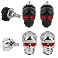 Wholesale Skull Bolts - 2pcs Skull License Plate Frame Bolts Screws Fastener Cap Motorcycle Car Truck Auto DXY88