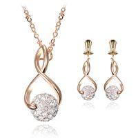Wholesale Custom Acrylic Earrings - Europe Jewelry Set Custom 925 Silver Diamond Jewelry Necklace Earrings Sets Wedding Party Bride Jewelry For Girl Women