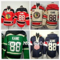 Wholesale Usa Olympic Sweatshirt - 2016 New, New Chicago Blackhawks 88 Patrick Kane Hoodies Sweatshirts Green Hockey Olympic Patrick Kane USA Hoodies Jersey Old Time
