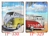Wholesale Vintage Beach Painting - Love and the beach Live in the present vintage metal tin sign bar metal painting decor for home club pub bar cafe TP329-330