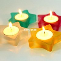 Los titulares decorativo Mini Estrella Tea Light Candle mayorista Vela Votiva stand decoración del partido 4pcs / lot SH283