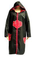 akatsuki sasuke cosplay großhandel-Naruto Cosplay Uchiha Sasuke Akatsuki Ninja Uniform Umhang Mit Hut