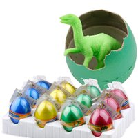 12pcs / Set Magic Hatching Inflazione Growing Dinosaur Aggiungi Water Grow Dino Egg Bambini Kid Fun Funny Toys Gadget regalo