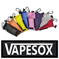 Wholesale Ecig Pouches - 2015 Hot Sell Colorful ecig carry pouch bag PU Leather Carring pouch eGo Box Case Pouch with Hook Vape Sox for Mechanical