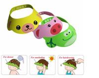Wholesale Baby Shampoo Shield - baby boy girl care hat shampoo cap water thermometer Kid Child baby shower Safe Shampoo Bath Shower Cap Hat Wash Hair Eye Shield